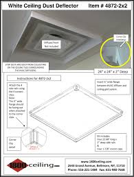 Ceiling Ac Vent Deflectors by Ceiling Dust Deflector White
