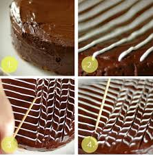 Technical Tuesday Elegant and Simple Fan and Feather Cake Decoration