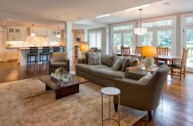 Cool Small Open Plan Living Room Decorating Ide Floor And Kitchen