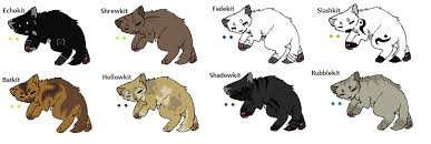 warrior cat names warrior cat adopts 3 kits closed by evertooth on deviantart