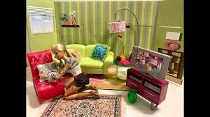 barbie living room set youtube