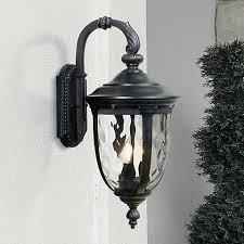 bellagio 20 1 2 high black outdoor wall light 37750 ls plus