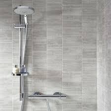 dumapan tile grigio piccolo shower bathroom