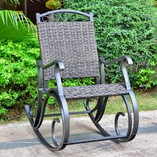 Patio, Lawn & Garden International Caravan Ibiza Resin ... Resin Wicker Porch Rockers Easy Care Rocker Charleston Rocking Chair Camel Back Chairs Set Of Two White Summer Outdoor Belwood With Floral Cushions 3pc Cushion And End Table Faux Book Pocket Coral Coast With Khaki The Portside Plantation All Weather Tortuga