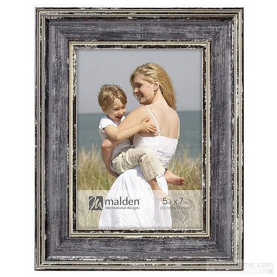Watercolor Gray Weathered 5x7 Frame by Malden