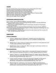 Psychology Cover Letter 3 Researcher Sample Resume Cv