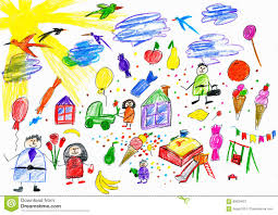 Download Cartoon People And Funny Toy Collection Children Drawing Object On Paper Hand Drawn