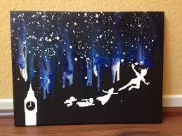 Disneys Peter Pan Melted Crayon Art