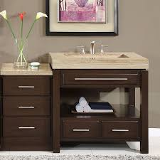 60 Inch Bathroom Vanity Single Sink Top by Bathroom Cabinets With Sink On Top 60 Inch Modern Travertine Stone