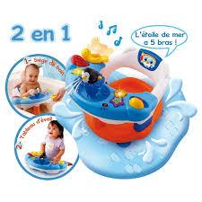 siège de bain pour bébé siège de bain interactif 2 en 1 vtech king jouet activités d