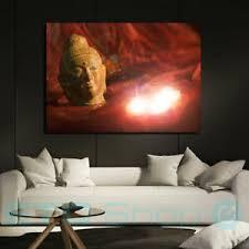 deko bilder drucke mit led buddha fürs wohnzimmer günstig
