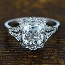 EDJs Collection Of Vintage Engagement Rings Includes Old European Cut And Cushion Diamond