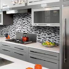 Subway Tile Backsplash Home Depot Canada by Kitchen Peel And Stick Backsplash Aspect 6 X 24inch Iron Slate