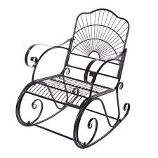 Outdoor Rocking Chair, Metal Rocking Chair Seat Single Chair For Patio,  Porch, Deck, Outdoor 1960s Rocking Chair In Red Plastic Strings On Black Metal Frame Wicker Grey At Home Details About Lawn Rocker Patio Fniture Garden Front Porch Outdoor Fleur Chairs Coffee Table Mesh Rare Salterini Radar Wrought Iron Scrollwork Design Decorative Deck Monceau Chair For Outdoor Living Space Staton Amazonin Kitchen Amazoncom Mygift Dark Brown Woven Metal Patio Rocking Chairs Carinsuncerateszipco Hampton Bay Wood