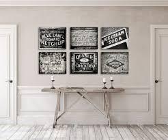 Rustic Kitchen Decor Wall Set