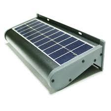eleding solar powered 5 watt gray outdoor integrated led wall pack