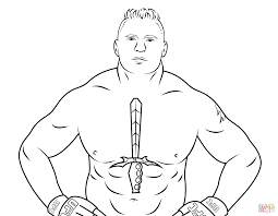 WWE Coloring Pages Wwe Brock Lesnar Page Free Printable Images