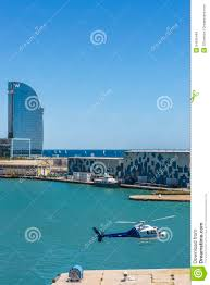 100 The W Hotel Barcelona Spain Helicopter And In Editorial Stock Image