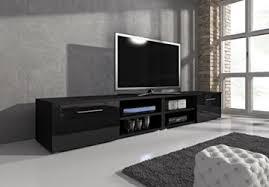 tv möbel lowboard tv element tv schrank tv ständer entertainment vegas korpus schwarz matt fronten schwarz hochglanz 240 cm