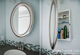 Medicine cabinet disguised as a mirror from Lowes