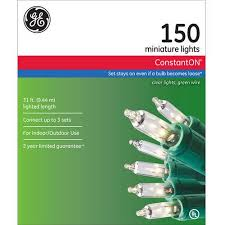 Ge Pre Lit Christmas Tree Replacement Bulbs by Ge Constanton Christmas Lights Clear 150 Count Walmart Com