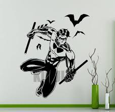Superhero Comic Wall Decor by Creative Nightwing Wall Decals Dc Marvel Comics Superhero