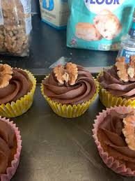 Coffee Walnut Cupcakes With Chocolate Butter Cream I Made This Was