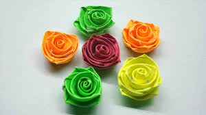 Make Quilling Rose Flowers Paper Easy Steps With Pictures Papercraft Flower