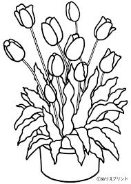 Bouquet De Fleurs Coloriage Fleur à Imprimer Et Colorier
