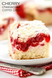 Cherry Cheesecake Coffee Cake is the perfect dessert A rich buttery coffee cake topped with