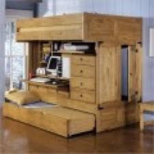 bunk bed with desk under foter