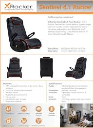X Rocker Sentinel 4.1 Speaker Floor Rocker Gaming Chair Pyramat Wireless Gaming Chair Home Fniture Design Game Bluetooth Singular X Rocker 51259 Pro H3 41 Audio Chair Infiniti 21 Series Ii Bckplatinum Aftburner Pedestal New 2018 Xrocker Se Sound Fox 5171401 Cxr1 Ackblue Office Chairs Xrocker Spider With