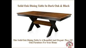 Solid Oak Dining Table In Dark Oak & Black - YouTube Details About Walker Edison Solid Wood Dark Oak Ding Chairs Set Of 2 Chh2do New Newfield Bentwood Ding Chair Dark Elm Koti Layar Chair Grey Black Amazoncom Trithi Fniture Rancho Real Sun Pine 7pc Sturdy Table Wooddark Dark Lina In Natural The Cove Arrow Back 4 Chairs Nida Rubber Wooden Legs Staggering 6 Golden Qtquot With Fascating Small And Bench Sets