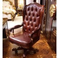 chaise de bureau antique yb63 de luxe antique chesterfield en cuir chaise de bureau en bois