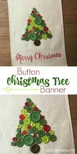 Kinds Of Christmas Trees by 5 Little Monsters Button Christmas Tree Banner