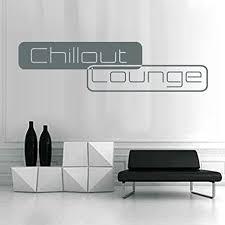 denoda chillout lounge wandtattoo grau 95 x 25 cm wandsticker wanddekoration wohndeko wohnzimmer kinderzimmer schlafzimmer wand aufkleber