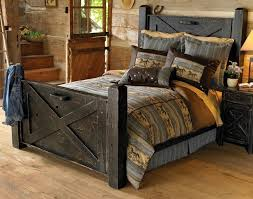 Dark Distressed Furniture Set For Rustic Bedroom Decor Ideas