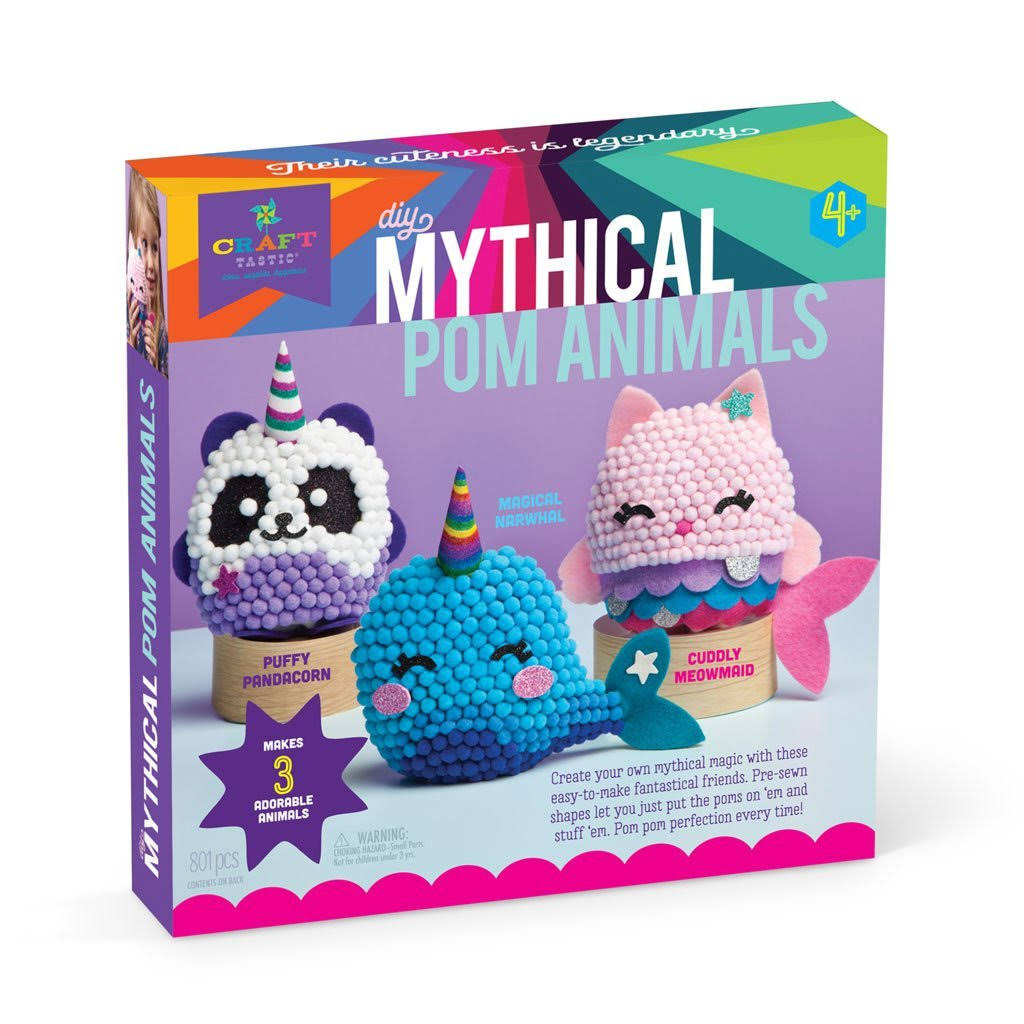 Craft-tastic DIY Mythical Pom Animals Kit