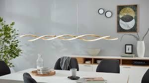 interliving leuchten serie 9309 pendelleuchte goldfarbenes metall weißes acrylglas länge ca 127 cm