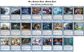 Common Mtg Deck Themes by M14 Budget Decks Mono Blue The Tabletop Vector
