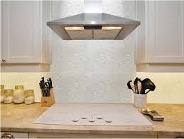 white brick groutless pearl shell tile kitchen backsplash glass