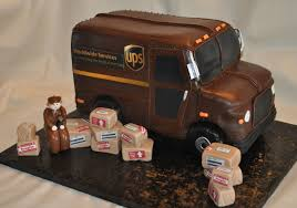 UPS Truck - This Was Done For A Grooms Cake. Packages Are Rice ...