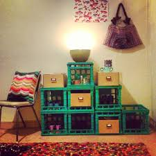 New Diy Milk Crate Shelves Home Design Planning Lovely And A Room
