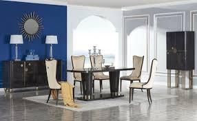 designer esszimmer möbel 8tlg set tisch stühle kommode anrichte gruppe garnitur
