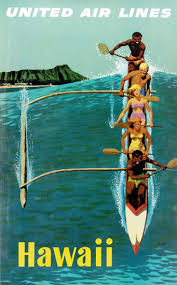 United Air Lines Hawaii Outrigger 1960