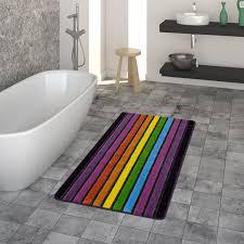 badezimmer teppich streifen motiv 3 d look bunt