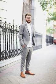 Grey Pants Caramel Brown Boots