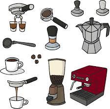 Vector Set Of Coffee Maker Art Illustration