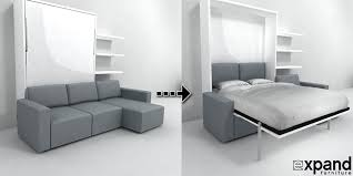 Clean MurphySofa Sectional Wall Bed