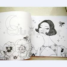 Aliexpress Buy Korea Dream Girl 24 Pencil Coloring Books For Adults Graffiti Painting Book Libro Colorear Adultos Cahier Coloriage Adulte Gift From